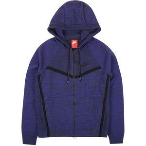 Nike tech knit windrunner obsidian blue hoodie m